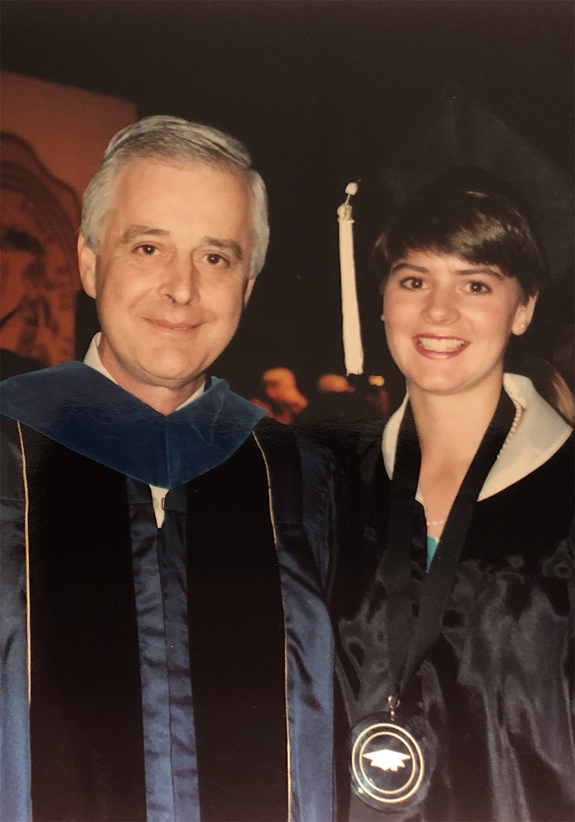 James T. Myers with Daughter Amy Myers at her graduation