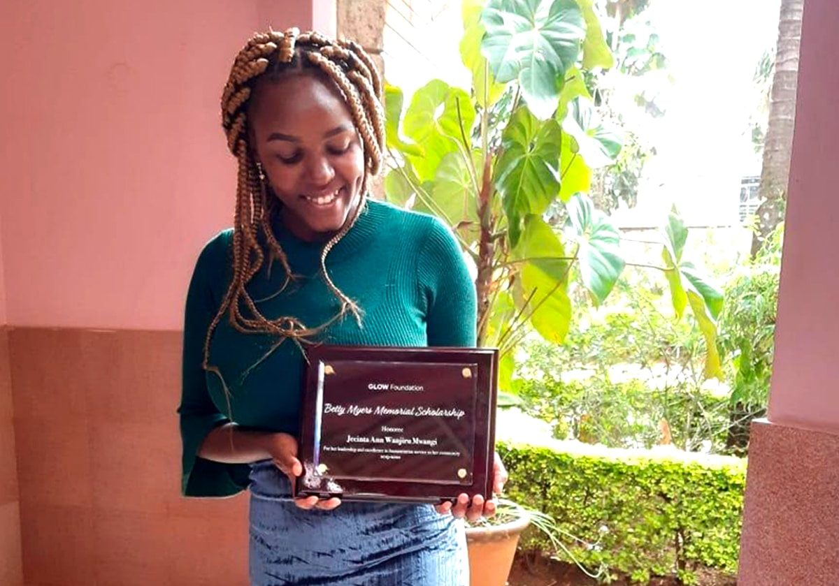 Portrait of Betty Myers Memorial Scholarship 2019/2020 Honoree - Jecinta Ann Wanjiru Mwangi